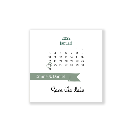 Simpele Save the date kaartje